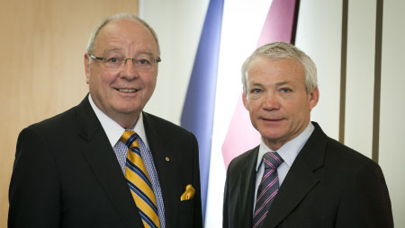 John V. McCarthy (Chair) and Keith Hampson (CEO)